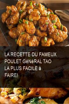 The easiest recipe to make the famous General Tao chicken! Chicken Pasta Recipes, Healthy Chicken Recipes, Meat Recipes, Asian Recipes, Dinner Recipes, Cooking Recipes, General Tao Chicken, Poulet General Tao, General Tao Recipe