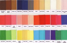 warm spring color palette - for tshirt/cardigan/tank top ideas