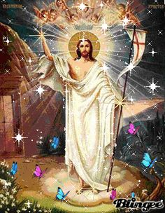 resurreccion de jesus Animated Pictures for Sharing Pictures Of Jesus Christ, Religious Pictures, Religious Icons, Religious Art, Mary And Jesus, Jesus Is Lord, Jesus Illusion, Archangel Uriel, Bible King James Version