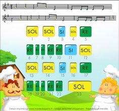 Monde des petits - Partition Song Notes, Partition Piano, Music Lessons For Kids, Homemade Instruments, Kalimba, Piano Teaching, Baby Music, Music Class, Musicals