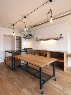 Mesa Comedor Isla - Diseño Industrial Hierro Madera - $ 25.900,00 en Mercado Libre