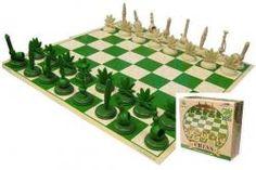 Wanna Play!?  Stonerware, Chess Set, Pot Leaf