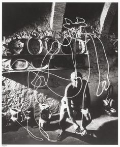 GJON MILI (American, 1904-1984). Picasso Drawing a Centaur witha Flashlight, 1949. Gelatin silver, 2004. Paper: 19-7/8 ...
