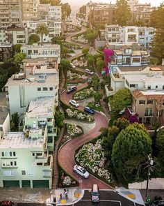 Lombard Street, San Francisco Lombard Street, Power To The People, San Francisco California, United States Travel, Cool Places To Visit, Travel Pictures, Travel Photography, Around The Worlds, Vacation