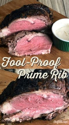 This is the best recipe for fool-proof medium-rare prime rib you'll ever find. - Recipes to try - Prime Best Prime Rib Recipe Ever, Prime Rib Recipe Oven, Cooking Prime Rib Roast, Ribs Recipe Oven, Slow Roasted Prime Rib, Smoked Prime Rib Roast, Foolproof Prime Rib Recipe, Cooking Ribs, Prime Rib Roast Recipe 500 Degrees