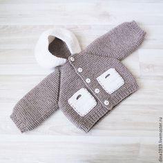 Для новорожденных, ручной работы. костюм вязаный, комплект для мальчика, бежевый, белый. Вязаные вещи детям Дина Беляева. Ярмарка Мастеров.