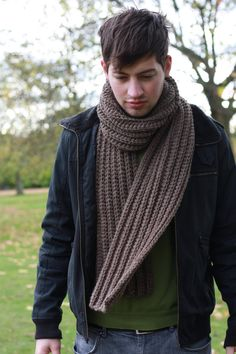 Mens Scarf Chunky Scarf for Mens Chunky Knit Scarf Winter by zukas, $75.00