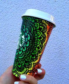 @starbucks amo dibujar en tus vasos reciclables