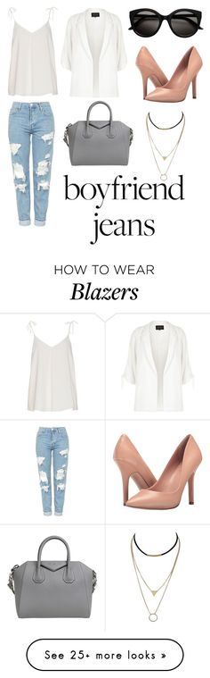 """Untitled #41"" by eclesiashelby on Polyvore featuring Topshop, River Island, Charles by Charles David and Givenchy"