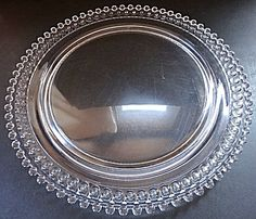 Imperial Candlewick 72 Hole Birthday Cake Plate Platter