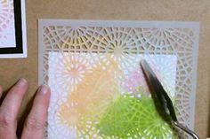 Colored Texture Paste Tutorial - Splitcoaststampers