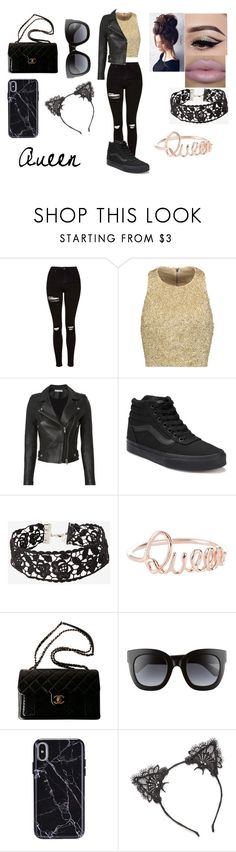 """Untitled #150"" by mackenziemarcu ❤ liked on Polyvore featuring Topshop, Alice + Olivia, IRO, Vans, Gerber, Chanel, Gucci and True Craft"