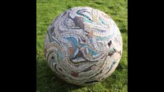 3D mosaic art sphere by Sue Kershaw