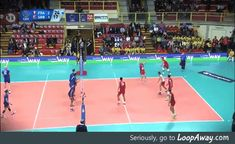 Incredible volleyball save