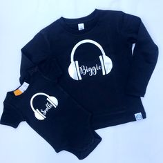 Biggie | Smalls Tee set - Father and Son, Father and daughter, Mother and Son, Mother and daugther. Gifts for Dad