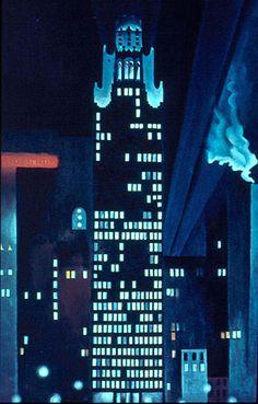 Georgia O'Keeffe : Radiator Building, Night, New York 1927