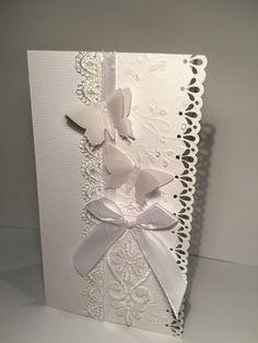 Kartka ślubna motylki