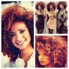 OMG LOVE. Natural hair, colored natural hair