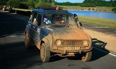 Renault 4L, muddy but cute!