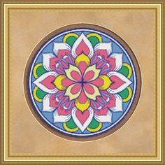 Counted Cross Stitch Pattern Floral Medallion 3 Cross Stitch Pattern / Design. $2.95, via Etsy.