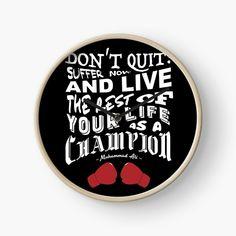 """Motivational Wall Clock """"Don't Quit"""" ~ Muhammad Ali Handmade Clock by 99designstudioCo on Etsy"""