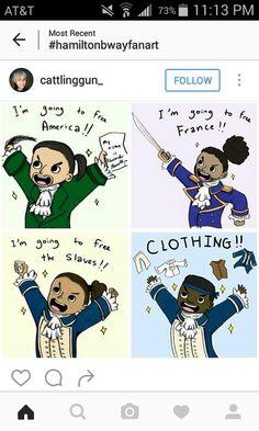 Hamilton, Lafayette, Laurens..and Mulligan