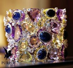 Jam-packed of gemstone check this spectacular cuff bracelet by @saboofinejewels featuring diamonds amethysts and multicolored sapphires via @katerina_perez #purplebyanki #love #instagood #beautiful #diamond #finejewellry #highjewellry #CuffBracelet