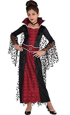 Girls Coffin Queen Vampire Costume