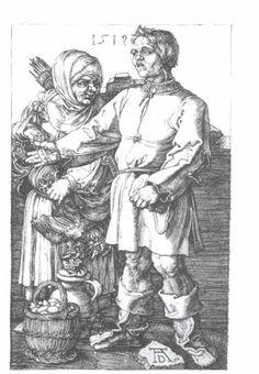 Acheter Tableau 'Peasans au marché' de Albrecht Durer - Achat d'une reproduction sur toile peinte à la main , Reproduction peinture, copie de tableau, reproduction d'oeuvres d'art sur toile