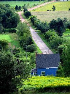 New Glasgow, Prince Edward Island. Bold Blue House, Canada | fotostrudel on Etsy