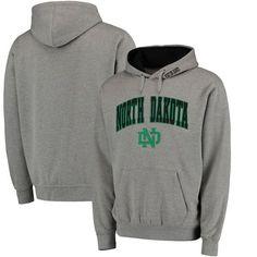 North Dakota Arch & Logo Pullover Hoodie - Gray - $34.99