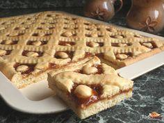 Výborný a rýchly linecký koláč s marmeládou. Jednoduchý a vláčny linecký koláčik s výbornou marhuľovou marmeládou. Tento koláčik si zamilujete Waffles, Breakfast, Food, Morning Coffee, Essen, Waffle, Meals, Yemek, Eten
