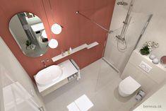 MALÉ KÚPEĽNE - Riešenia & Dizajn / BENEVA Small Bathroom, Bathroom Lighting, Toilet, Mirror, Inspiration, Furniture, Home Decor, Small Shower Room, Bathroom Light Fittings