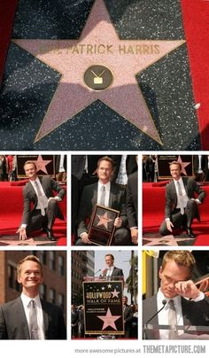 Neil Patrick Harris awe he got teary :)