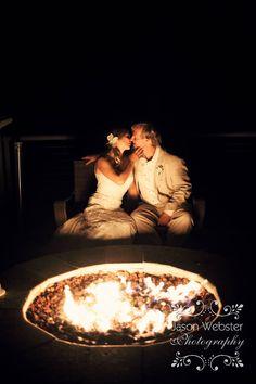 Jason Webster Photography » bride & groom wedding fire pit