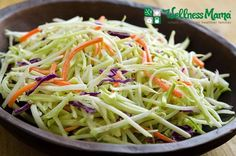 We love having this broccoli slaw as a side dish during all the seasons. It's a great pairing with all sorts of meats and main dishes. It doesn't take too long to prepare, and it's a great way to get the kids involved in the kitchen with kid-friendly utensils!