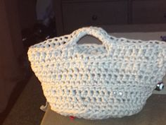Chunky basket - crochet