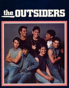 The Outsiders with Patrick Swayze, Rob Lowe, Tom Cruise, Ralph Macchio, Matt Dillon, Emilio Estevez, and C. Thomas Howell