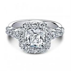 Shop online CHRISTOPHER DESIGNS G52CU Halo 18K - White Gold Diamond Engagement Ring at Arthur's Jewelers. Free Shipping