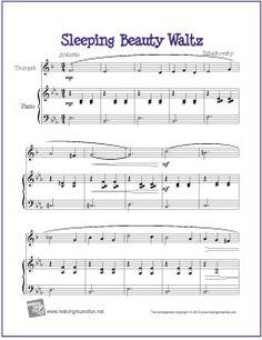 Sleeping Beauty Waltz (Tchaikovsky) | Free Sheet Music for Trumpet - http://makingmusicfun.net/htm/f_printit_free_printable_sheet_music/sleeping-beauty-waltz-trumpet.htm