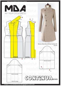 Transformable Coat Sewing Pattern - Coat Patterns - Jacket Patterns - Bolero Pattern - Skirt Patterns - Blazer Pattern - Sewing Tutorials - Sewing E-book Fashion Sewing, Diy Fashion, Ideias Fashion, Winter Fashion, Coat Patterns, Dress Sewing Patterns, Clothing Patterns, Coat Pattern Sewing, Skirt Patterns