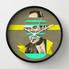 slices of Rossignol - Mariano Wall Clock by AmDuf - $30.00