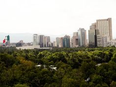 Vista de la Ciudad de México desde el Castillo de Chapultepec.