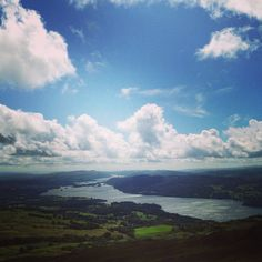 The view from the top of Wansfell Pike, Ambleside, the Lake District, Cumbria