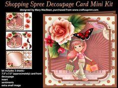 Shopping Spree Decoupage Card Mini Kit on Craftsuprint - View Now!