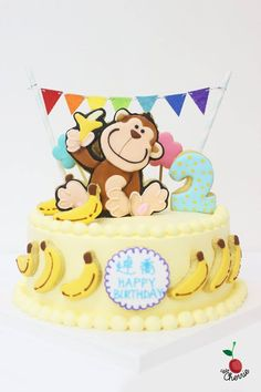 Monkey Cake Icing cookies decoration