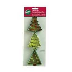 Wilton 3 Piece Tree Cookie Cutter Set