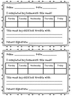 AT-HOME LEARNING: KINDERGARTEN HOMEWORK {{THE WHOLE YEAR}} - TeachersPayTeachers.com