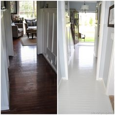 How To Paint Prefinished Hardwood Floors Reveal @cleverlyinspired (8)