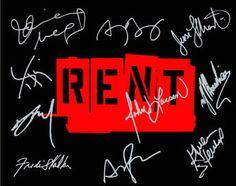 RENT Signed Original Cast Photo